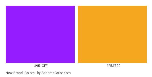 New Brand - Color scheme palette thumbnail - #951cff #f5a720