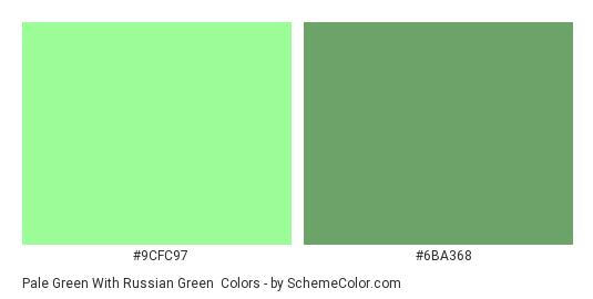 Pale Green With Russian Color Scheme Palette Thumbnail 9cfc97 6ba368