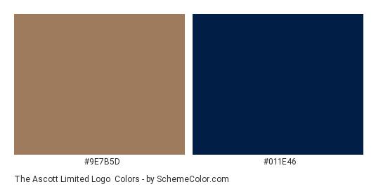 The Ascott Limited Logo - Color scheme palette thumbnail - #9e7b5d #011e46