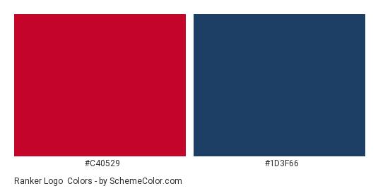 Ranker Logo - Color scheme palette thumbnail - #C40529 #1D3F66