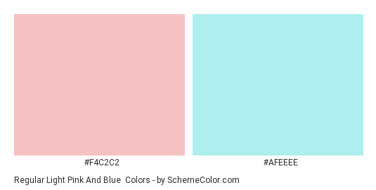 Regular Light Pink and Blue - Color scheme palette thumbnail - #F4C2C2 #AFEEEE