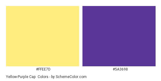 Yellow Purple Cap Color Scheme SchemeColor