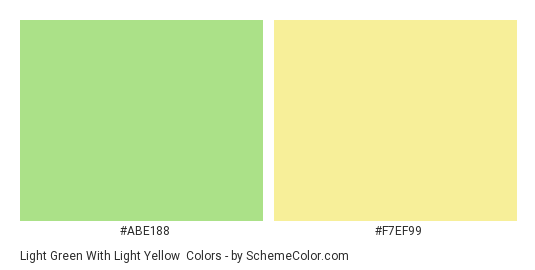 Light Green With Yellow Color Scheme Palette Thumbnail Abe188 F7ef99