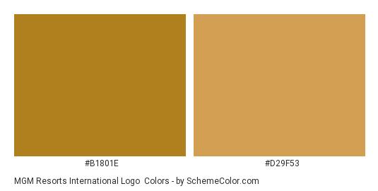 MGM Resorts International Logo - Color scheme palette thumbnail - #b1801e #d29f53