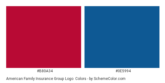 American Family Insurance Group Logo Color Scheme Palette Thumbnail B80a34 0e5994