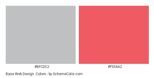 Base Web Design - Color scheme palette thumbnail - #bfc0c2 #f05a62