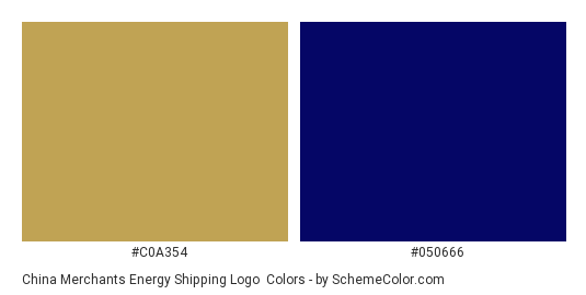 China Merchants Energy Shipping Logo - Color scheme palette thumbnail - #c0a354 #050666