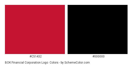 BOK Financial Corporation Logo - Color scheme palette thumbnail - #c51432 #000000