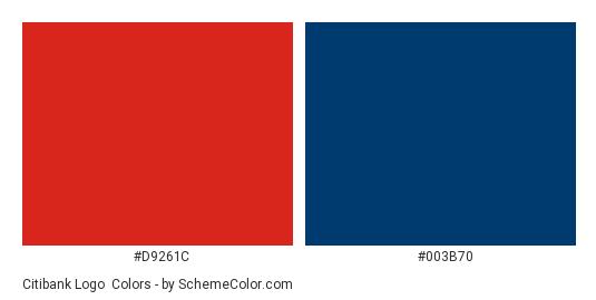 Citibank Logo Color Scheme » Blue » SchemeColor com