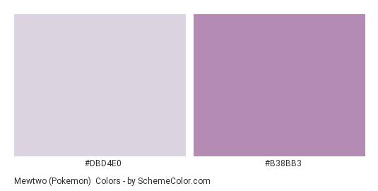 Mewtwo (Pokemon) - Color scheme palette thumbnail - #dbd4e0 #b38bb3