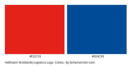 Hellmann Worldwide Logistics Logo - Color scheme palette thumbnail - #e32119 #004c99