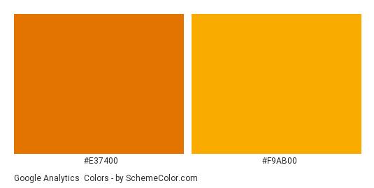 Google Analytics - Color scheme palette thumbnail - #e37400 #f9ab00
