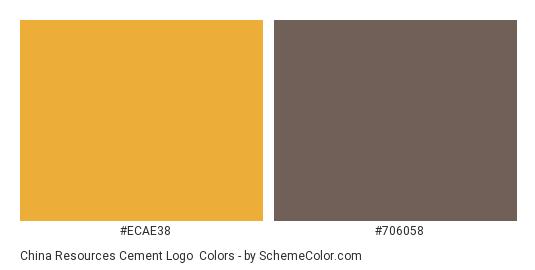 China Resources Cement Logo - Color scheme palette thumbnail - #ecae38 #706058