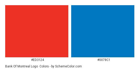 Bank of Montreal Logo - Color scheme palette thumbnail - #ed3124 #0078c1