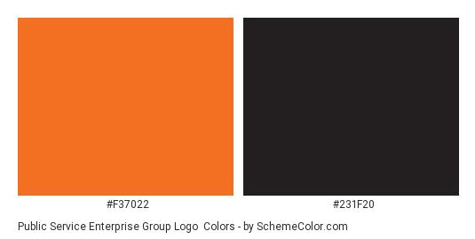 Public Service Enterprise Group Logo - Color scheme palette thumbnail - #f37022 #231f20