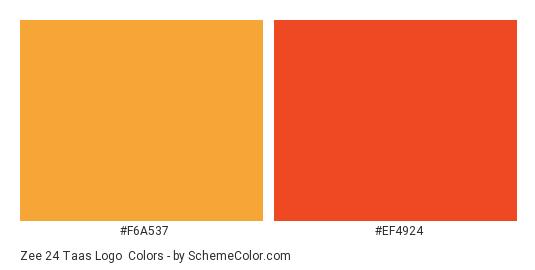 Zee 24 Taas Logo - Color scheme palette thumbnail - #f6a537 #ef4924