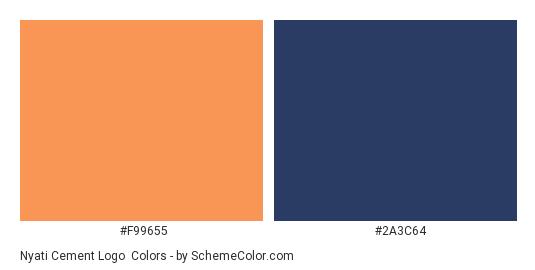 Nyati Cement Logo - Color scheme palette thumbnail - #f99655 #2a3c64