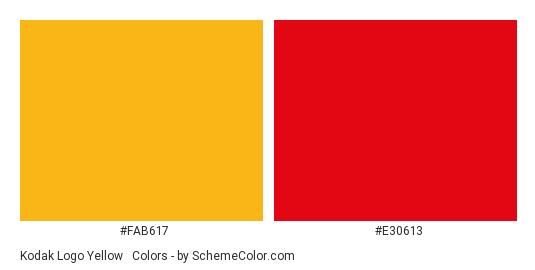 Kodak Logo Yellow Red Color Scheme Brand And Logo Schemecolor Com