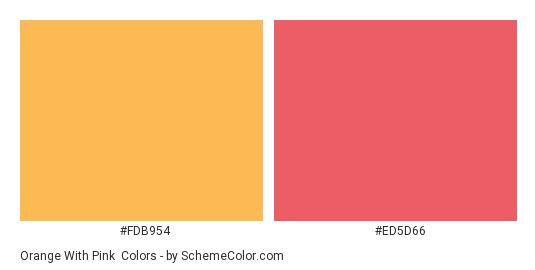 Orange With Pink Color Scheme Palette Thumbnail Fdb954 Ed5d66