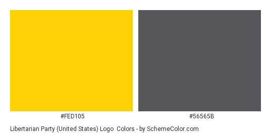 Libertarian Party (United States) Logo Color Scheme » Brand