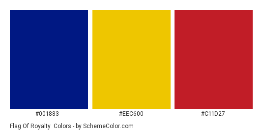 Flag Of Royalty Color Scheme » Blue » SchemeColor.com