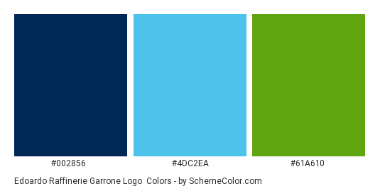 Edoardo Raffinerie Garrone Logo - Color scheme palette thumbnail - #002856 #4dc2ea #61a610