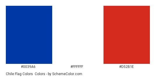 chile flag colors country flags schemecolor com