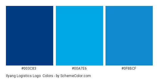 Ilyang Logistics Logo - Color scheme palette thumbnail - #003c83 #00a7e6 #0f8bcf