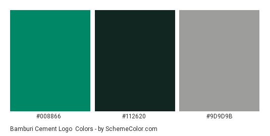 Bamburi Cement Logo - Color scheme palette thumbnail - #008866 #112620 #9d9d9b