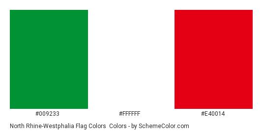 North Rhine-Westphalia Flag Colors - Color scheme palette thumbnail - #009233 #ffffff #e40014