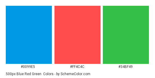 500px Blue Red Green Color Scheme » Brand and Logo ...