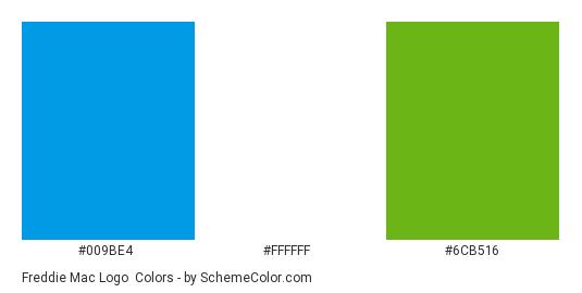 Freddie Mac Logo - Color scheme palette thumbnail - #009be4 #ffffff #6cb516