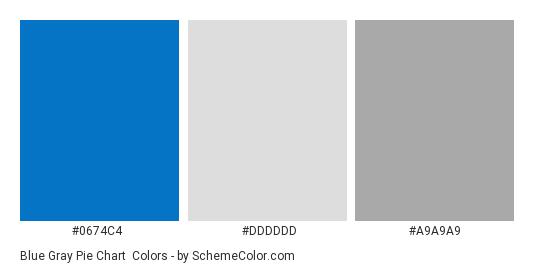 Blue Gray Pie Chart - Color scheme palette thumbnail - #0674C4 #DDDDDD #A9A9A9