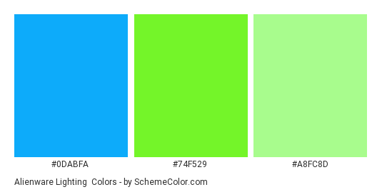 Alienware Lighting Color Scheme Bright Schemecolor