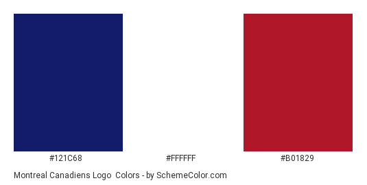 Montreal Canadiens Logo Color Scheme Blue Schemecolor Com