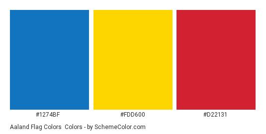 Aaland Flag Colors - Color scheme palette thumbnail - #1274bf #fdd600 #d22131