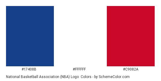 National Basketball Association Nba Logo Color Scheme Blue