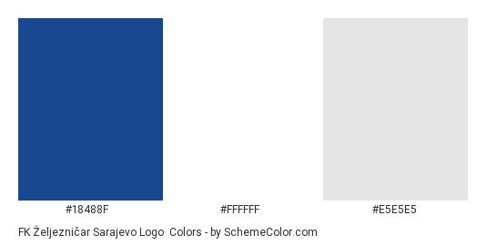 FK Željezničar Sarajevo Logo - Color scheme palette thumbnail - #18488f #ffffff #e5e5e5