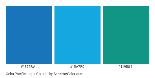 Cebu Pacific Logo - Color scheme palette thumbnail - #1875ba #15a7e0 #119584