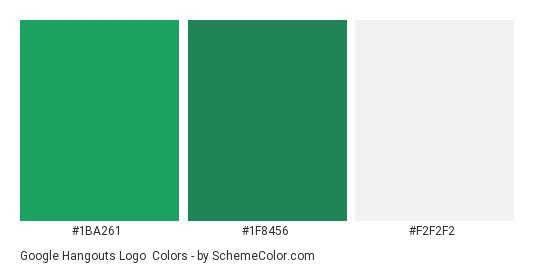 Google Hangouts Logo - Color scheme palette thumbnail - #1ba261 #1f8456 #f2f2f2