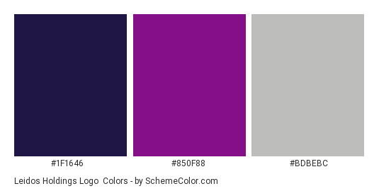Leidos Holdings Logo - Color scheme palette thumbnail - #1f1646 #850f88 #bdbebc