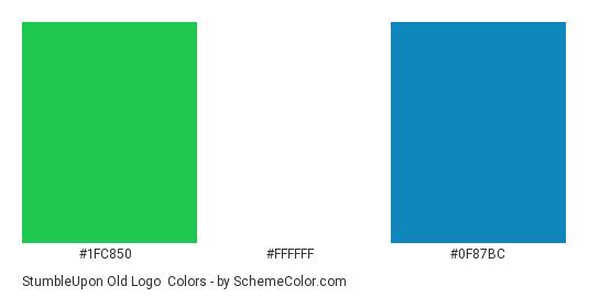 StumbleUpon Old Logo - Color scheme palette thumbnail - #1fc850 #ffffff #0f87bc