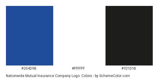 Nationwide Mutual Insurance Company Logo - Color scheme palette thumbnail - #204d9b #ffffff #1d1d1b