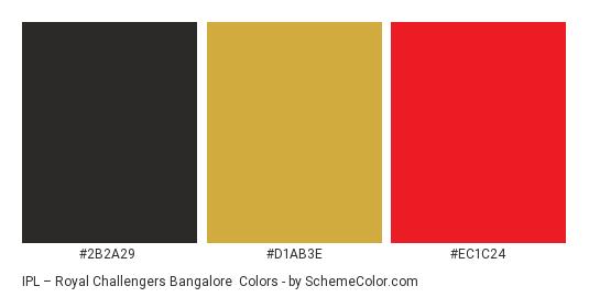 IPL – Royal Challengers Bangalore Color Scheme » Sports Team