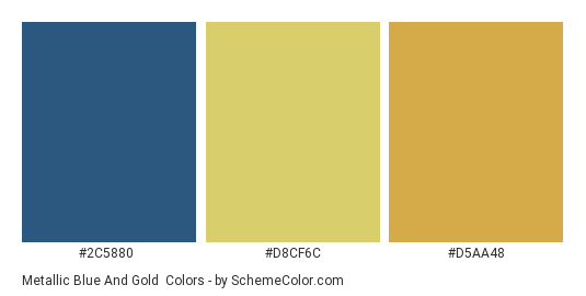 Metallic Blue And Gold Color Scheme Blue Schemecolor Com