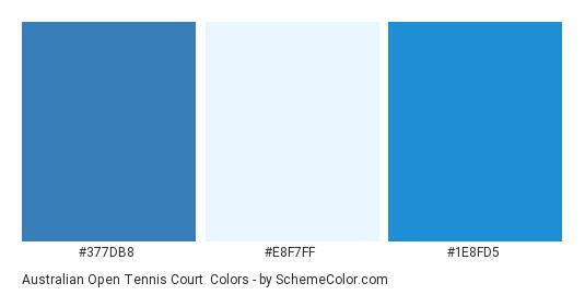 Australian Open Tennis Court - Color scheme palette thumbnail - #377DB8 #E8F7FF #1E8FD5