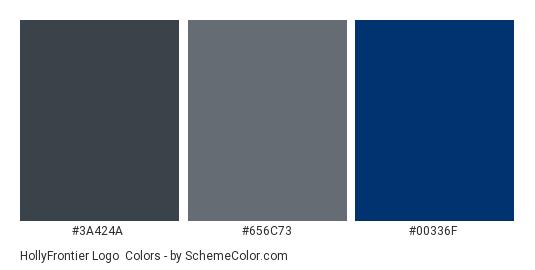 HollyFrontier Logo - Color scheme palette thumbnail - #3a424a #656c73 #00336f