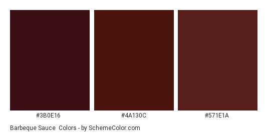 Barbeque Sauce - Color scheme palette thumbnail - #3b0e16 #4a130c #571e1a