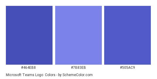 Microsoft Teams Logo - Color scheme palette thumbnail - #464EB8 #7B83EB #505AC9