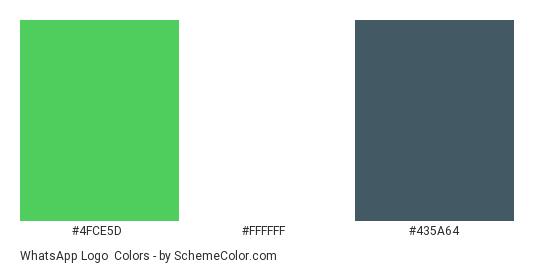 WhatsApp Logo - Color scheme palette thumbnail - #4fce5d #ffffff #435a64
